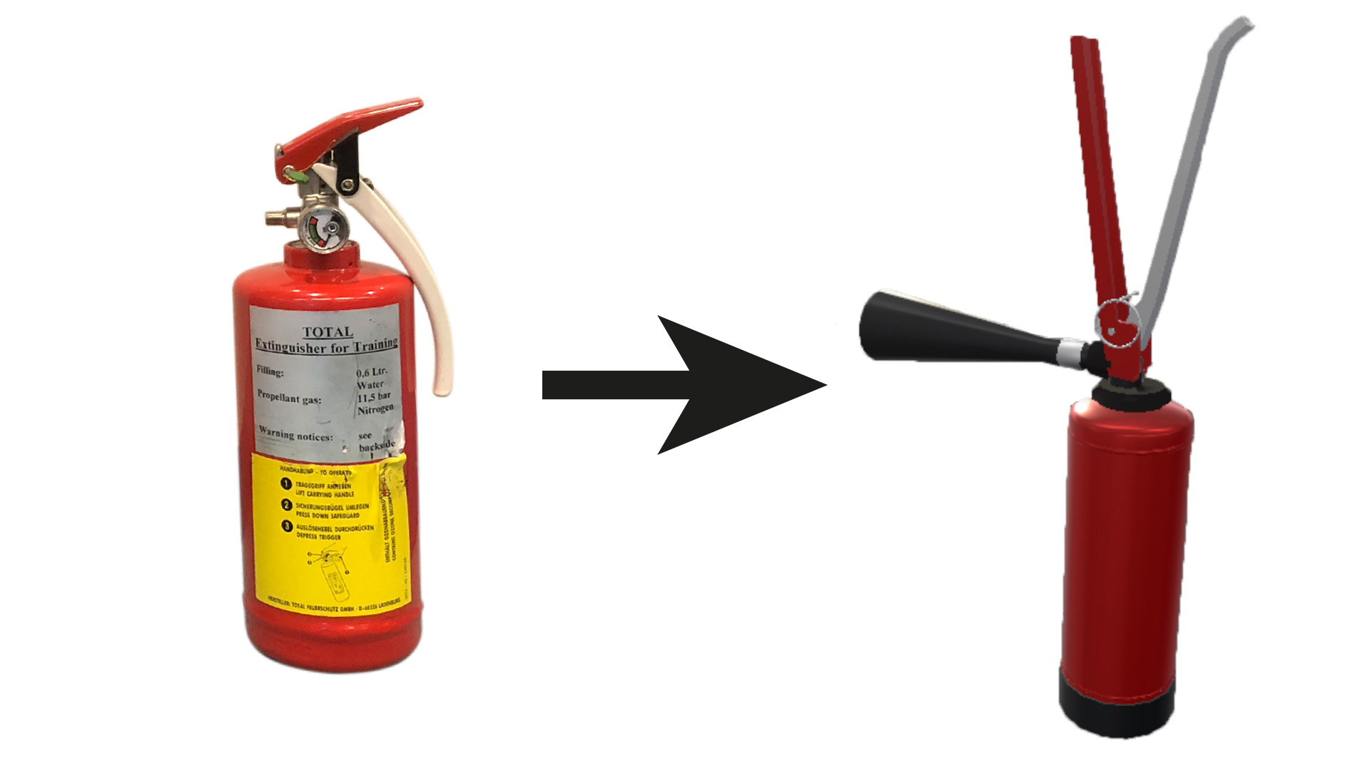 Redesigned Two Handed Fire Extinguisher